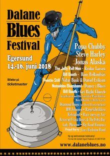 Offisiell poster for Dalane Bluesfestival